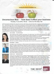 Unconscious Bias Event, Humber Business Week 2016
